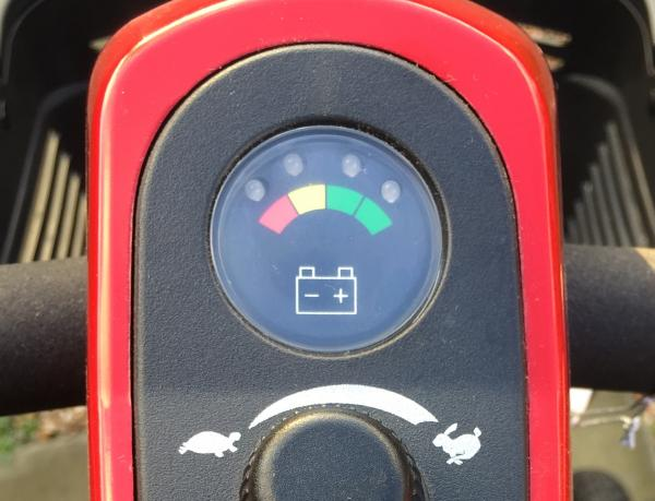 Mobility Scooter Battery indicator and speed dial